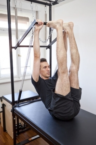 male pilates portrait